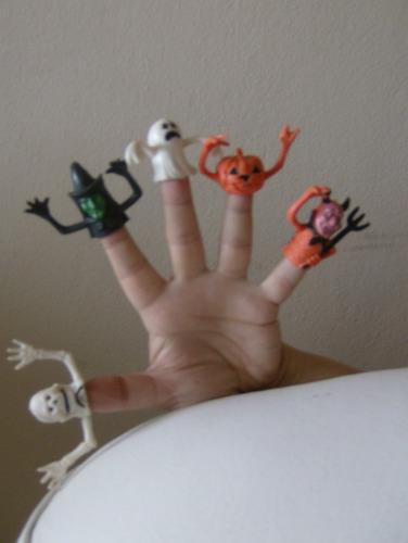 halloween - dedinhos divertidos ( 5 unid)