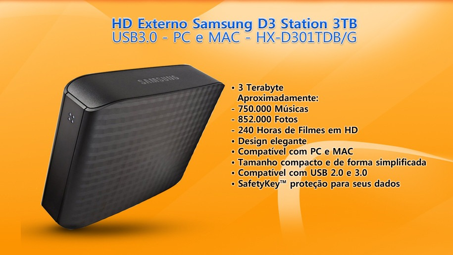 Hd Samsung Externo 3tb D3 Station Usb 3 0 R 607 00 Em