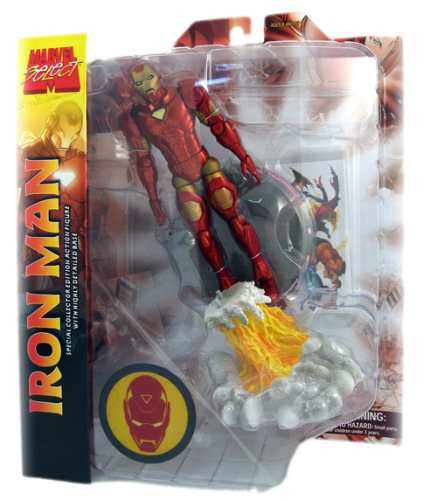 iron man - marvel select - diamond select - homem de ferro