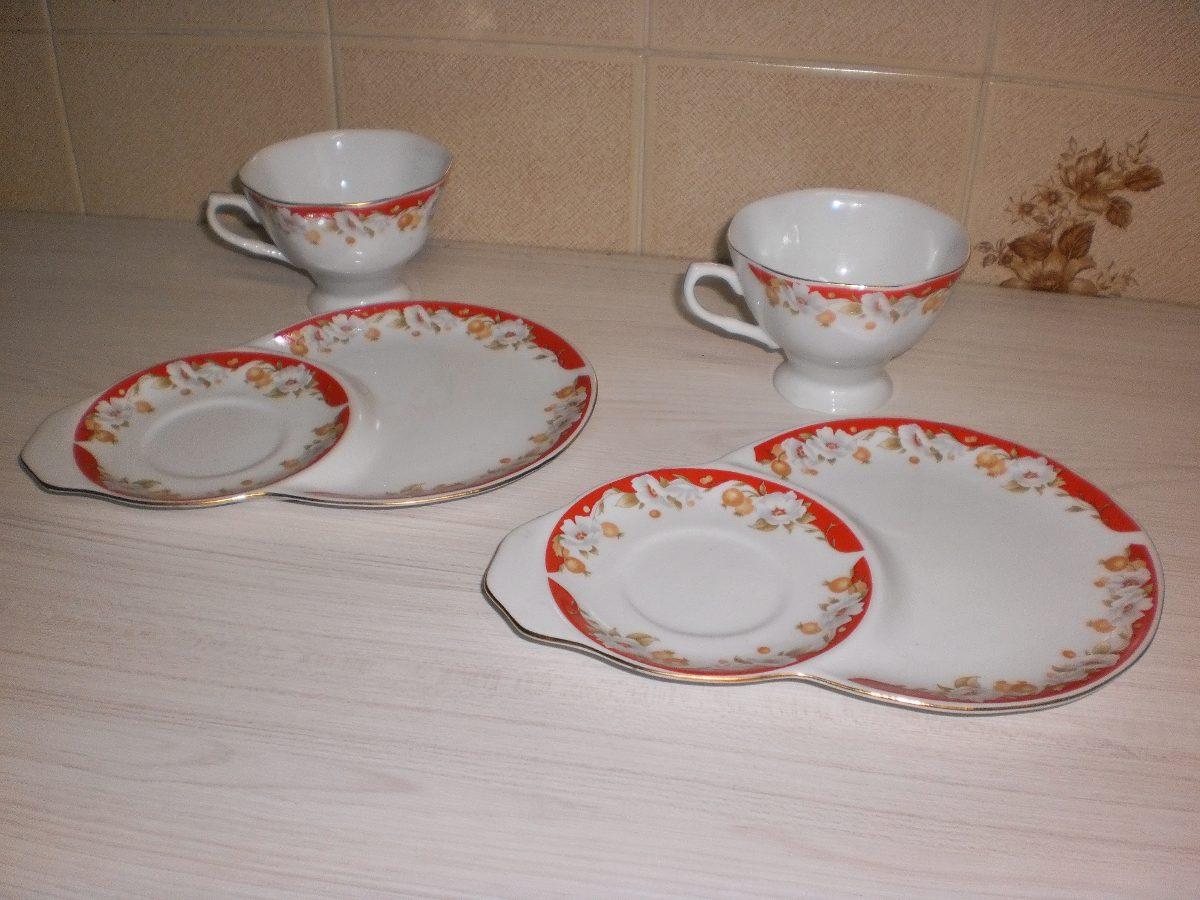 Jogo de ch tete a tete de porcelana italiana r 290 00 for Porcelana italiana