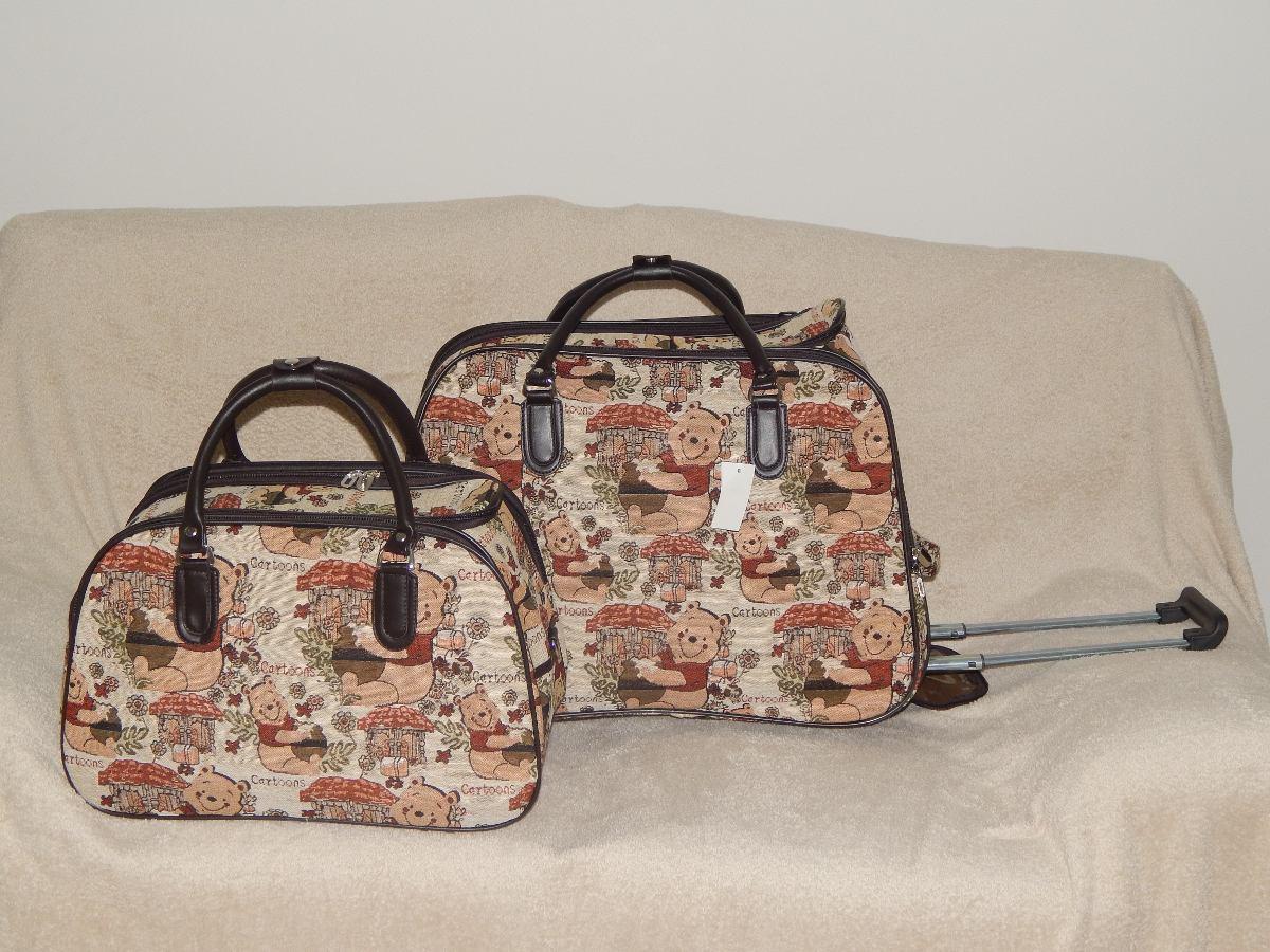 Bolsa Executiva Feminina De Rodinha : Kit bolsa de viagem feminina com rodinha ursinho puff