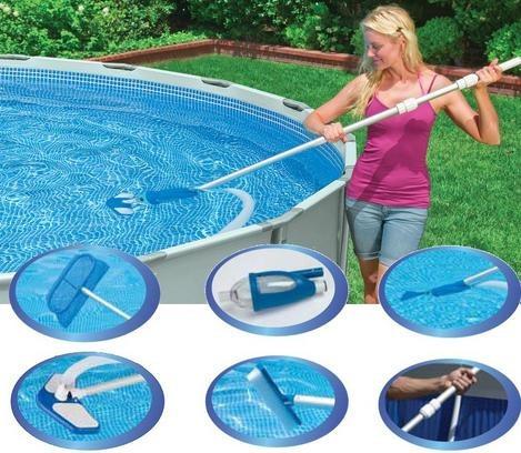 Aspiradora para piscina unica oferta for Kit limpieza piscina