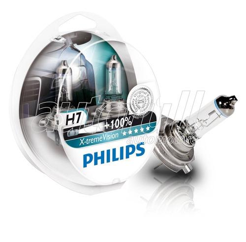 lampadas philips h7 xtreme vision 100% mais luz originais