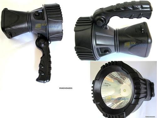 lanterna holofote recarregável bivolt mais solar 140 lumens