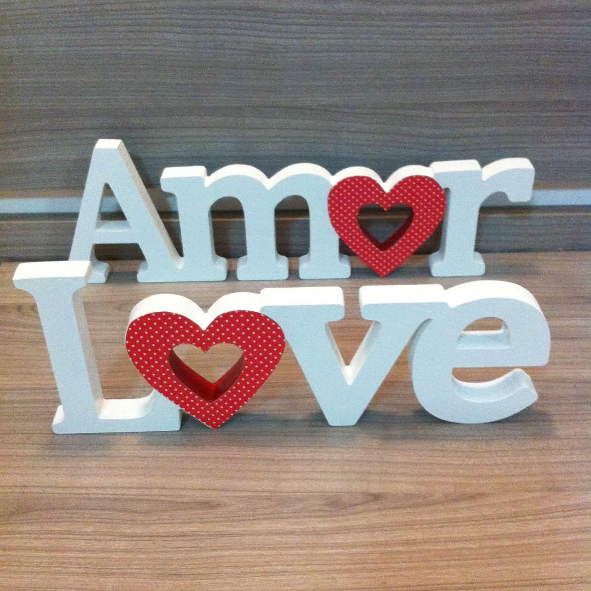 Artesanato Letras Love ~ Letras Palavras Mdf Decoradas Amor Love Coraç u00e3o Casamento R$ 39,99 em Mercado Livre