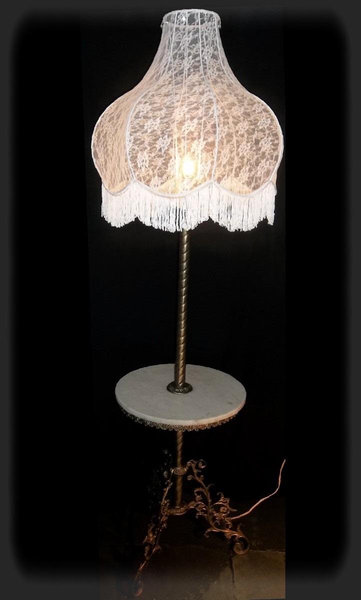 Lumin?ria Coluna De Bronze E M?rmore Antiguidade Restaurada - R$ 7 ...