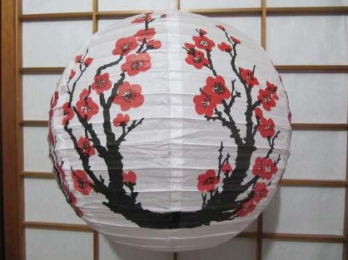 luminária sakura japonesa chinesa oriental abajur lanterna