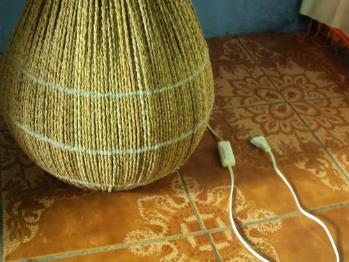 luminárias de chão (cebolão) fibra de açaí