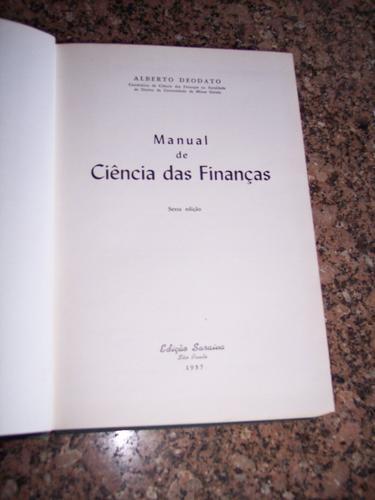 manual de ciências das finanças, alberto deodato