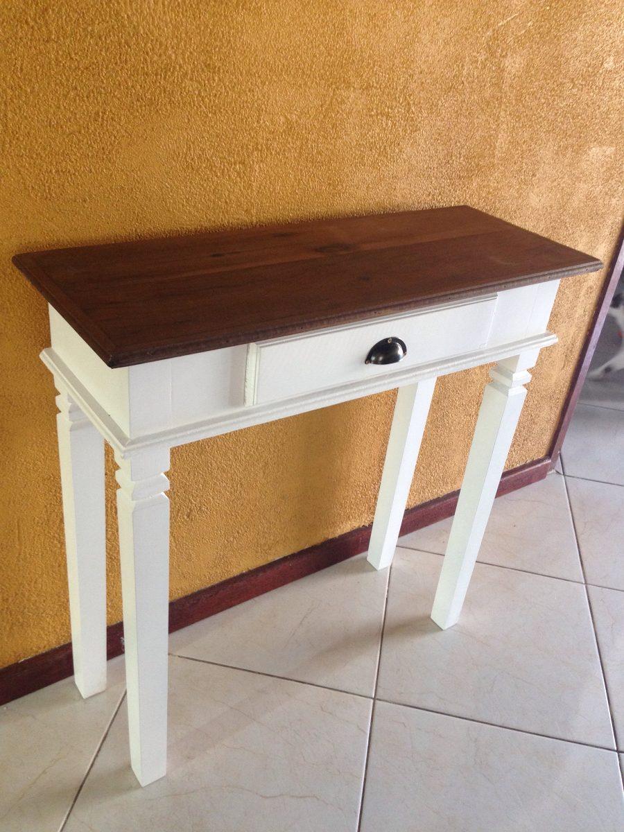 Aparador Gris Ikea ~ Mesa Aparador Branco Madeira De Demoliç u00e3o 01 Gaveta Peroba R$ 299,00 em Mercado Livre