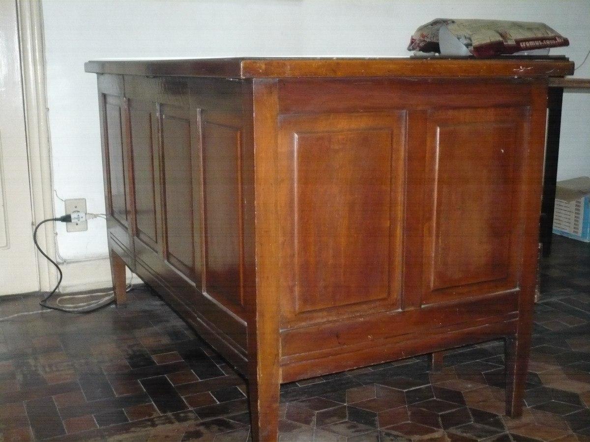 Mesa De Escritorio Antiga Madeira De Lei (decada De 40) R$ 1.700 00  #9B6030 1200x900