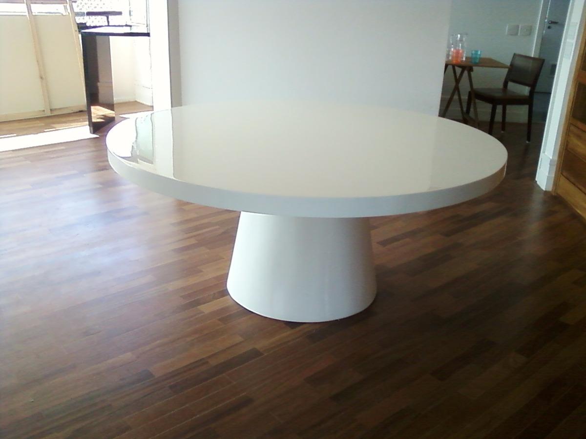 Sala De Jantar Resina Branca ~ Mesa De Jantar Redonda Em Resina Branca Para 6 Lugares  R$ 2350,00