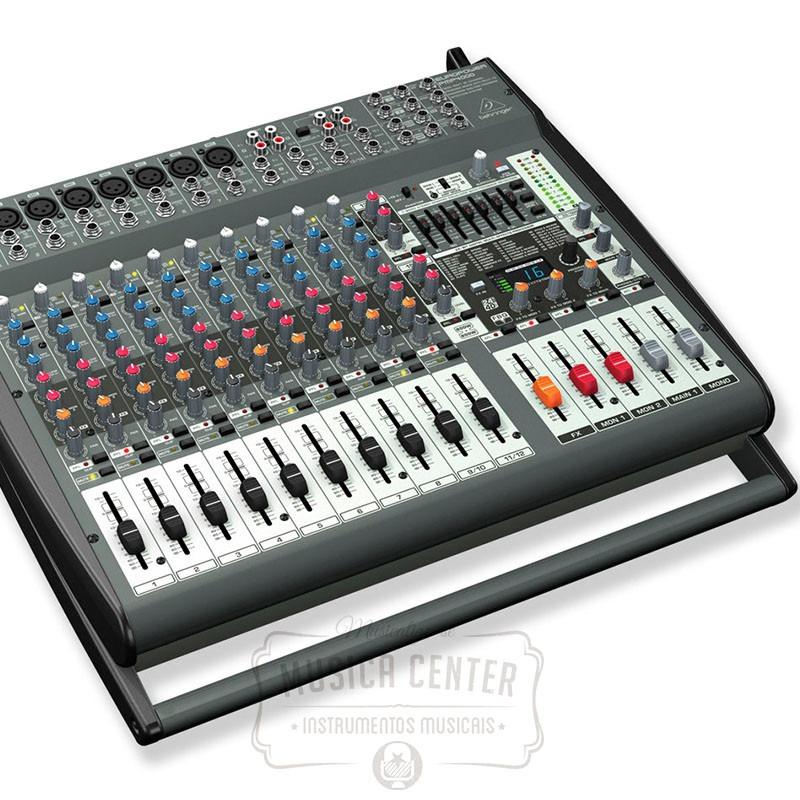 Mesa de som amplificada behringer pmp4000 800w 16 canais for Mesas behringer
