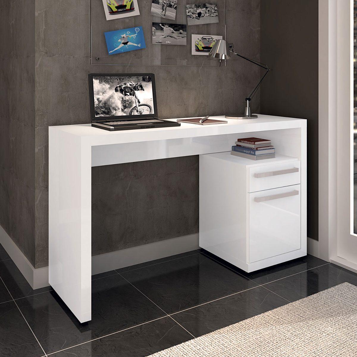 Mesa Para Computador Escrivaninha Notebook Branco Kappesberg R$ 299  #35678F 1200x1200
