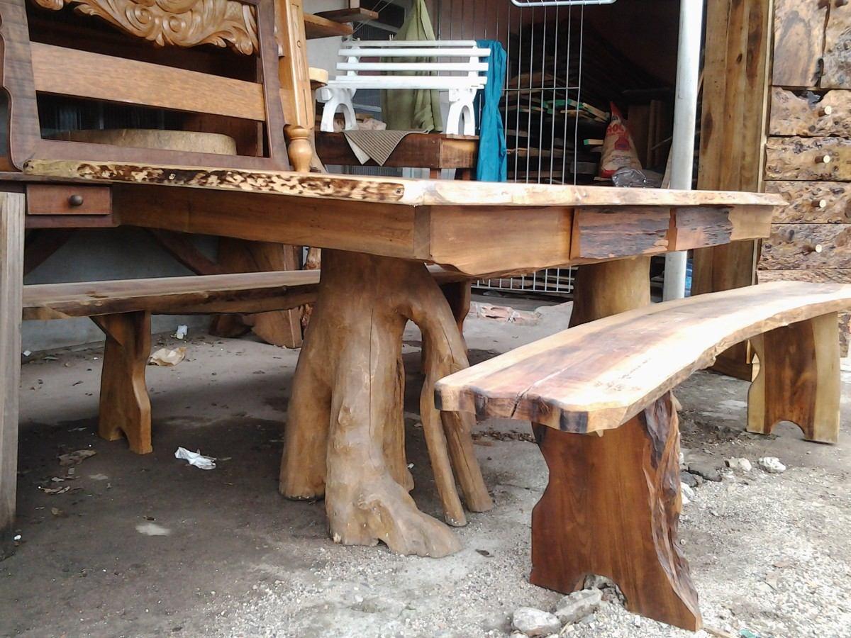 mesa jardim mercado livre:Mesa Rústica De Canela – R$ 2.200,00 em Mercado Livre