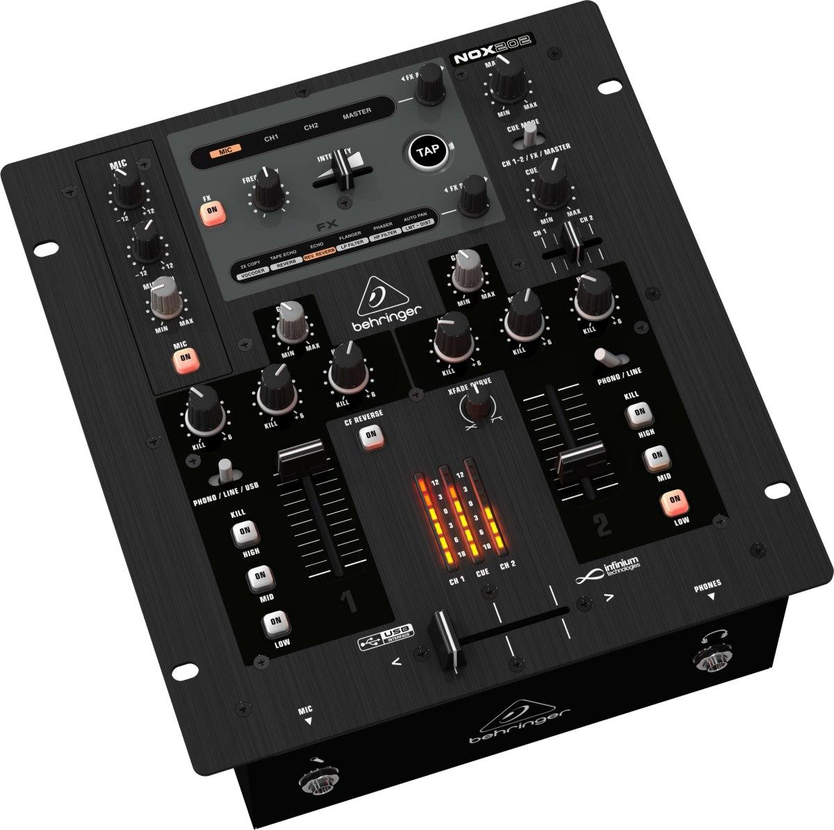 Mesa de som behringer nox202 mixer profissional p dj for Mesas behringer