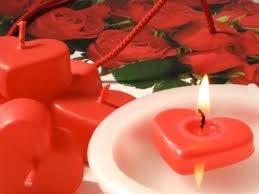 mini coração flutuante caixa com 20 velas