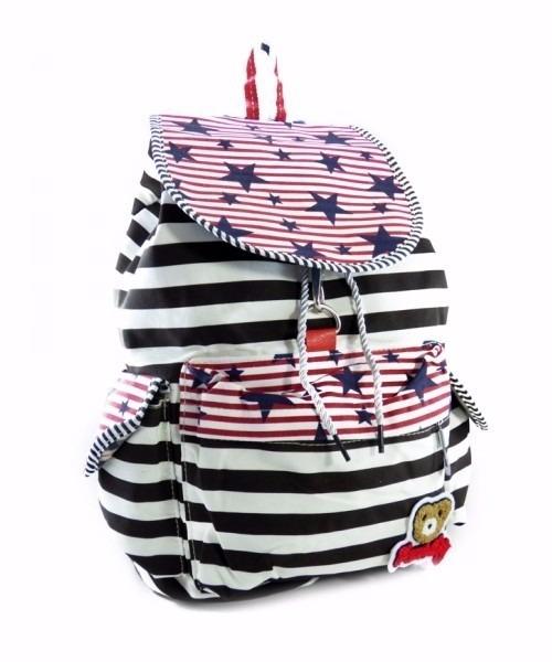 Bolsa Mochila Feminina Juvenil Lona Escolar Universitária : Mochila feminina lona juvenil bolsa escolar tecido pano