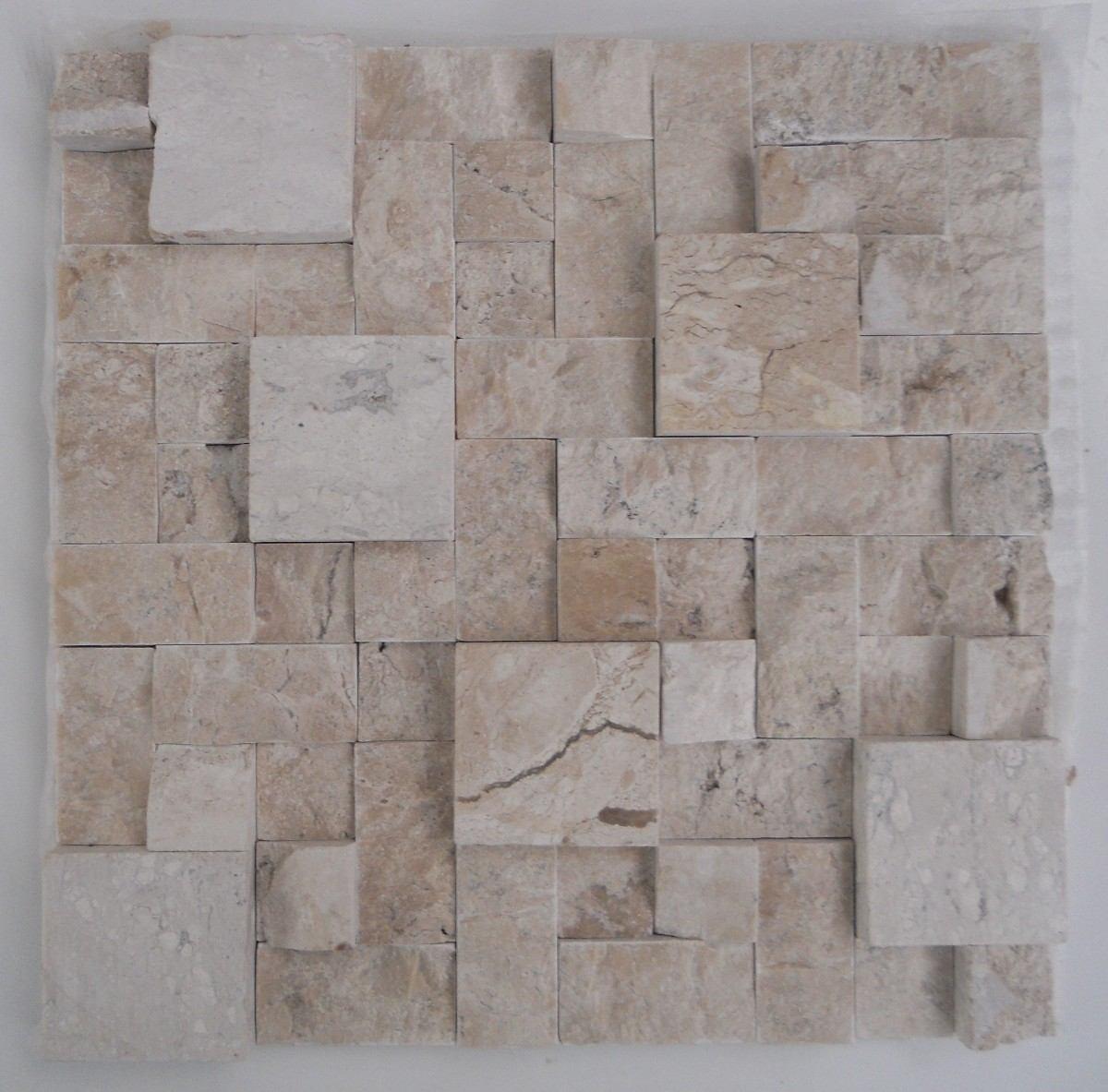 Mosaico De Mármore Branco/mármore Travertino Bege Bahia tela R$ 16  #655A52 1200x1183 Banheiro Branco Com Marmore Travertino