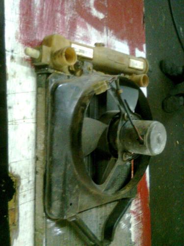 motor do ventilador do radiador com suporte fiat uno mile