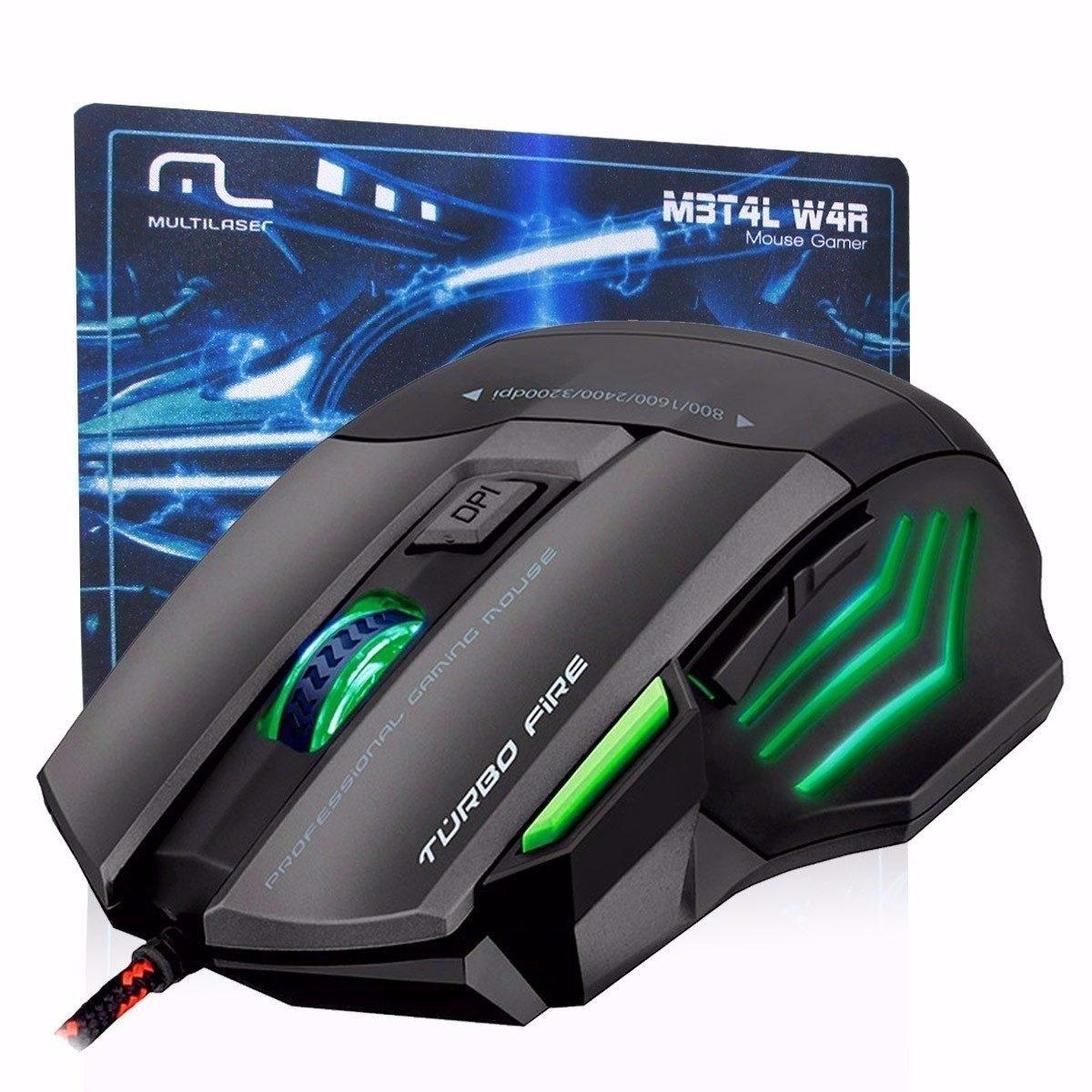 Mouse Gamer Multilaser Metal War Mo207 3200dpi + Mousepad - R$ 93,20 ...