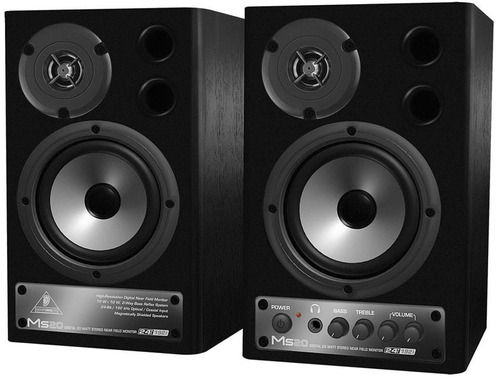 ms20 monitor behringer ms-20 ativo par woofer 20 watts novo
