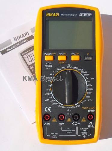 multímetro digital profissional hikari hm-2030 - true rms