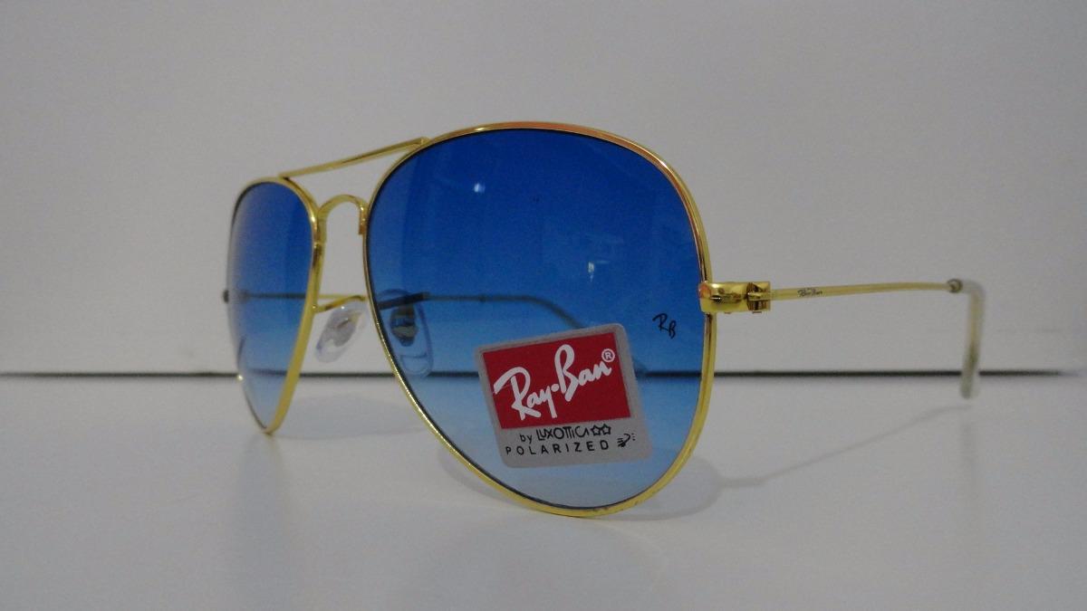 0b4ea7531 Ray Ban Aro Dourado Com Lente Azul Degrade | Louisiana Bucket Brigade