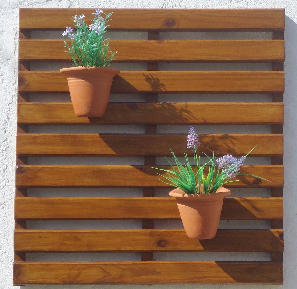 jardim vertical venda:Painel De Madeira Para Jardim Vertical – 75 X 71 Cm – R$ 79,80 em