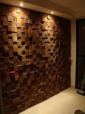 Painel decorativo mosaico gesso 3d madeira lascada r stica - Placas para decorar paredes ...