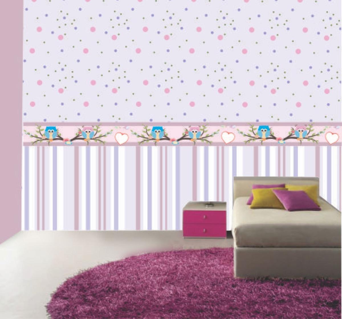 Papel de parede quarto bebe infantil corujinha promo o for Papel para pared infantil