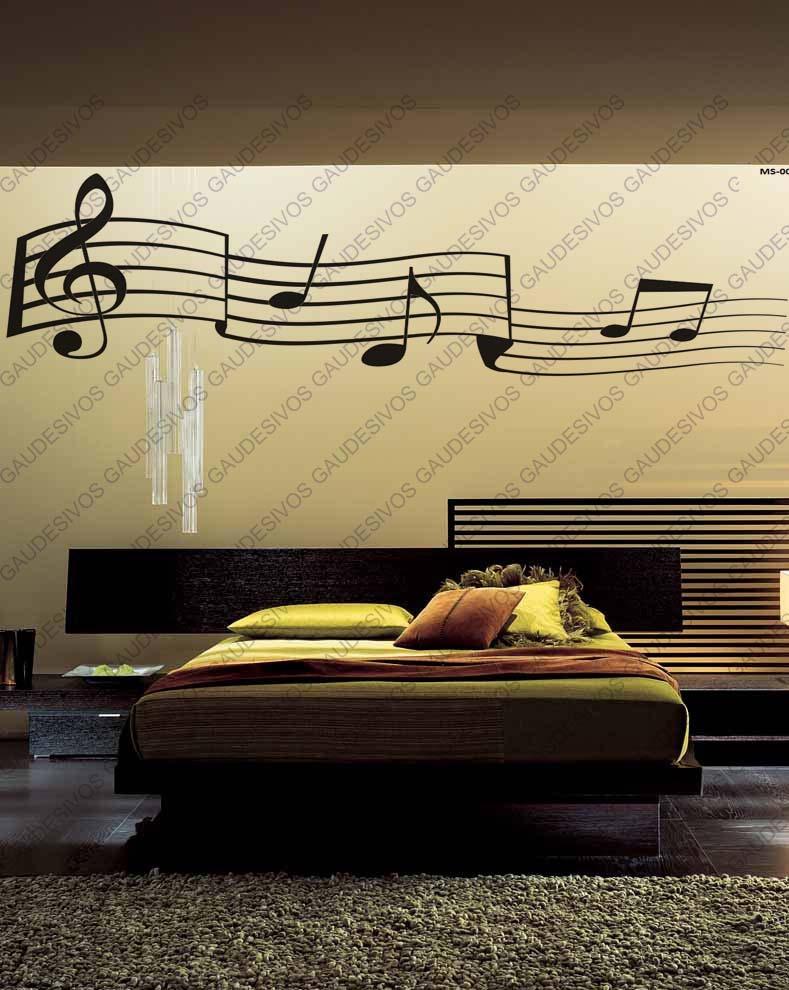 Armario Cozinha Planejado Preto ~ Adesivo De Parede Decorativo Nota Musical Extra Grande Sala R$ 34,99 em Mercado Livre