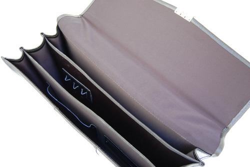 pasta executiva estilo maleta couro legítimo - bolsa