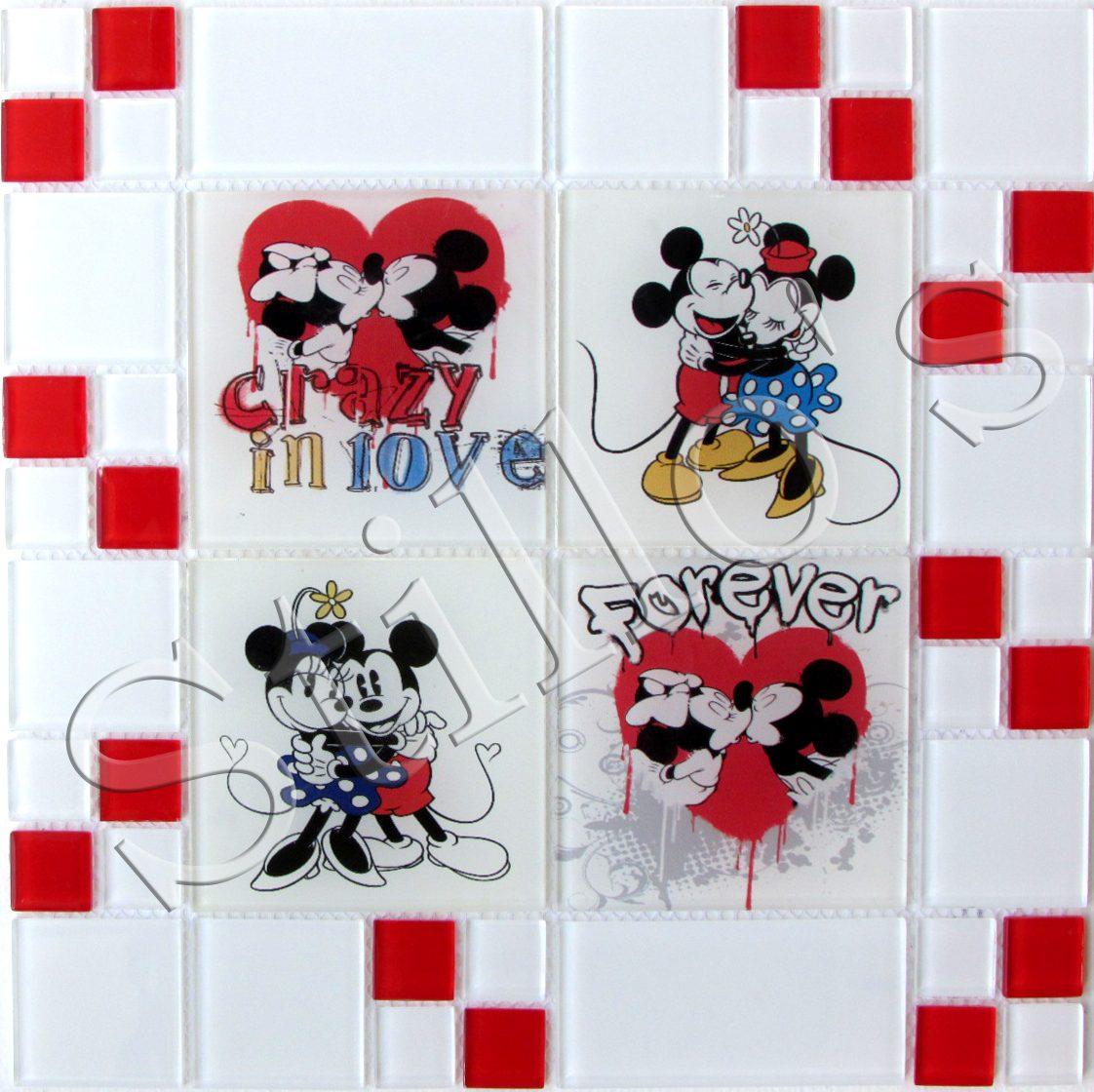 Pastilhas De Vidro Cristal Linha Disney Stillo's Reveste R$ 47  #BD0E18 1122 1120