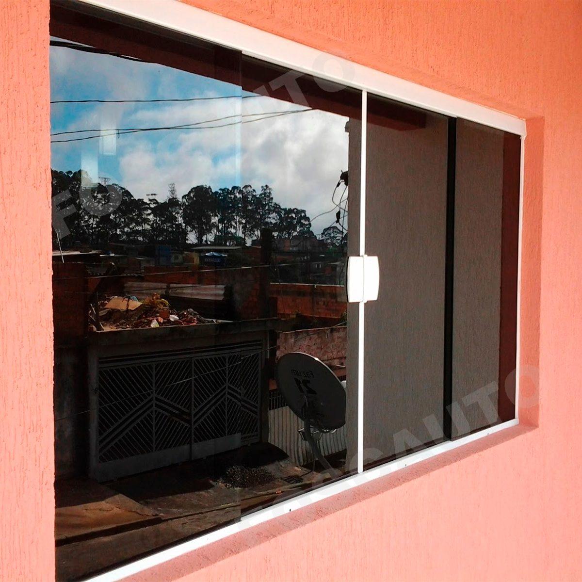 #C72804  Preto Fume Porta Janela Vidro Blindex R$ 19 95 em Mercado Livre 286 Janelas De Vidro Sanfonadas