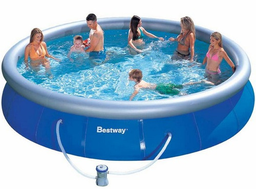 Piscina bestway 10 mil litros kit de limpeza bomba for Alberca intex redonda