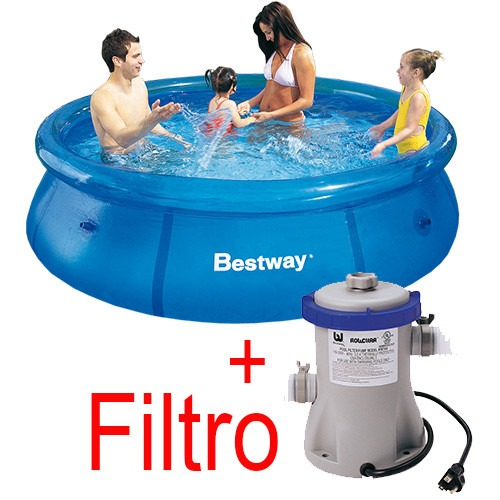 Piscina infl vel 2300 litros filtro 110v bestway intex for Filtro piscina intex