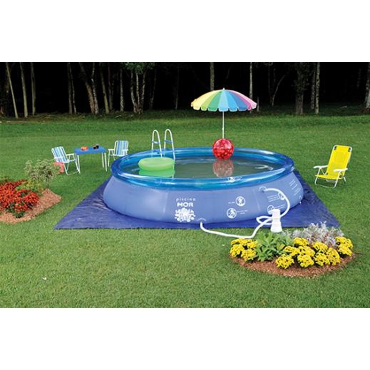 Piscina Inflavel Redonda Splash Fun 12000 Litros Mor R