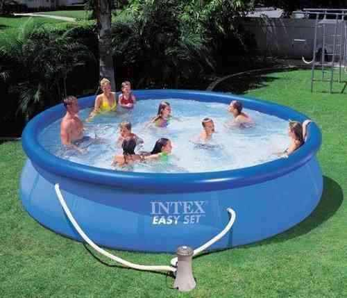Piscina intex 10681 litros completa bomba filtro escada for Piscinas rectangulares intex