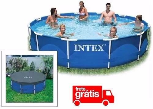 Piscina intex 6503 litros estrutural arma o 366 cm com for Calcular litros piscina