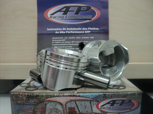 pistão afp + pinos forjados motor ap 1.8/ 1.9/ 2.0 81 a 84m