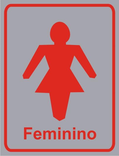 Placa Proibido Estacionar Portão Eletronico  R$ 30,00 em Mercado Livre -> Banheiro Feminino Simbolo