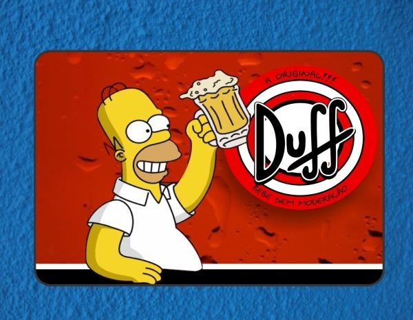 Placas decorativas retro vintage cerveja duff anos 80 - Placas decorativas pared ...