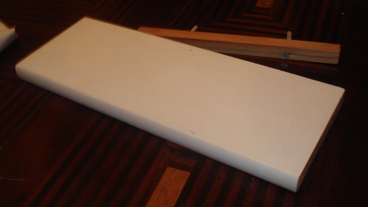 Prateleira Em Madeira Laqueada De Branco  R$ 29,00 em Mercado Livre
