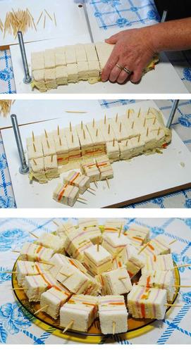 prensa-sanduiche, para fazer deliciosos mini-sanduiches