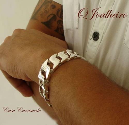 pulseira de prata 950k fire blade a + bela pulseira