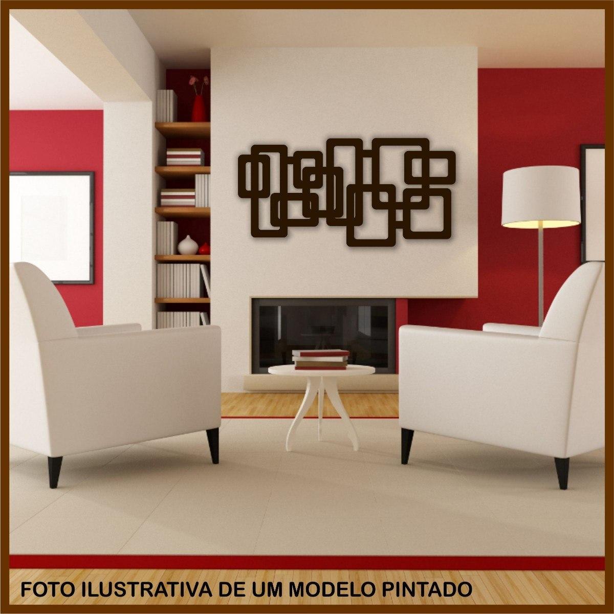 Quadro De Parede Escultura 1 Metro Mdf Pintado R$ 128 90 em  #74220F 1200x1200