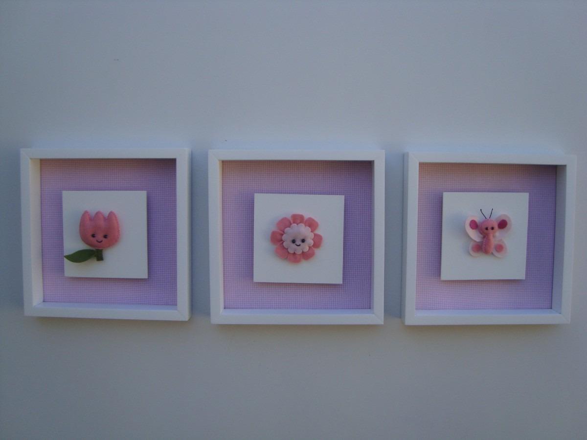 Quadros Quarto Bebê Jardim Encantado flores tulipa  ~ Ver Quadros Para Quarto De Bebe