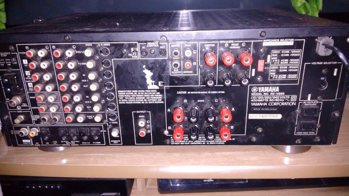Receiver yamaha rx v995 denon onkyo marantz jbl r 900 for Onkyo or yamaha receiver