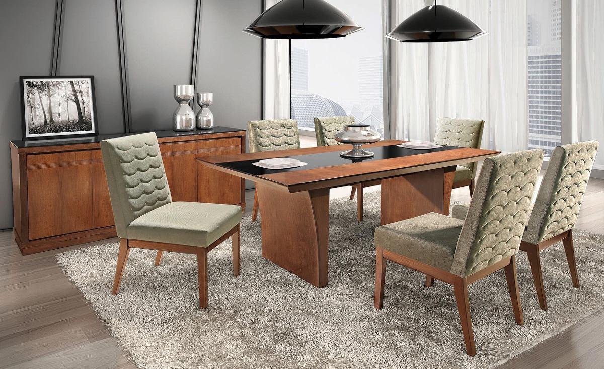 Buffet Para Sala De Jantar Vintage ~ Conjunto De Sala Mesa 6 Cadeiras Buffet E Espelho Mesa De Jantar